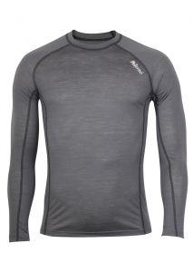 Zobrazit detail - Pánské Merino triko šedá/ černá