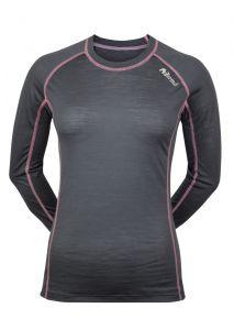 Dámské Merino triko šedá/ růžová
