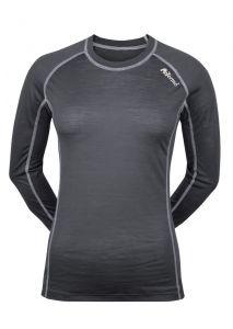 Dámské Merino triko šedá/ bilá