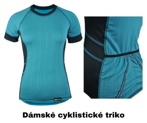 dámské cyklistické triko z coolmaxu