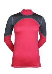 Merino triko šedá/růžová