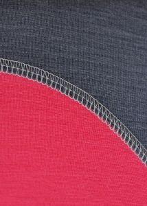 Dámské funkční Merino triko šedá/růžová vhodné na zimní sporty MeTermo-Libor Macek