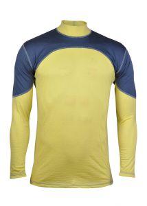 Merino triko šedá/žlutá