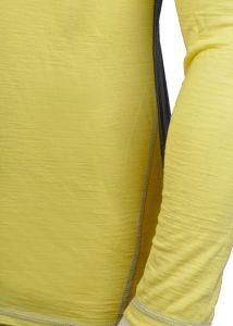 Pánské funkční Merino triko šedá/žlutá vhodné na zimní sporty MeTermo-Libor Macek