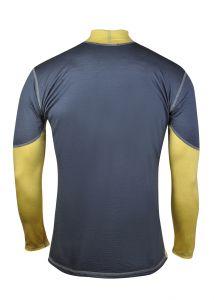 Merino pánské funkční triko - šedá/žlutá MeTermo-Libor Macek