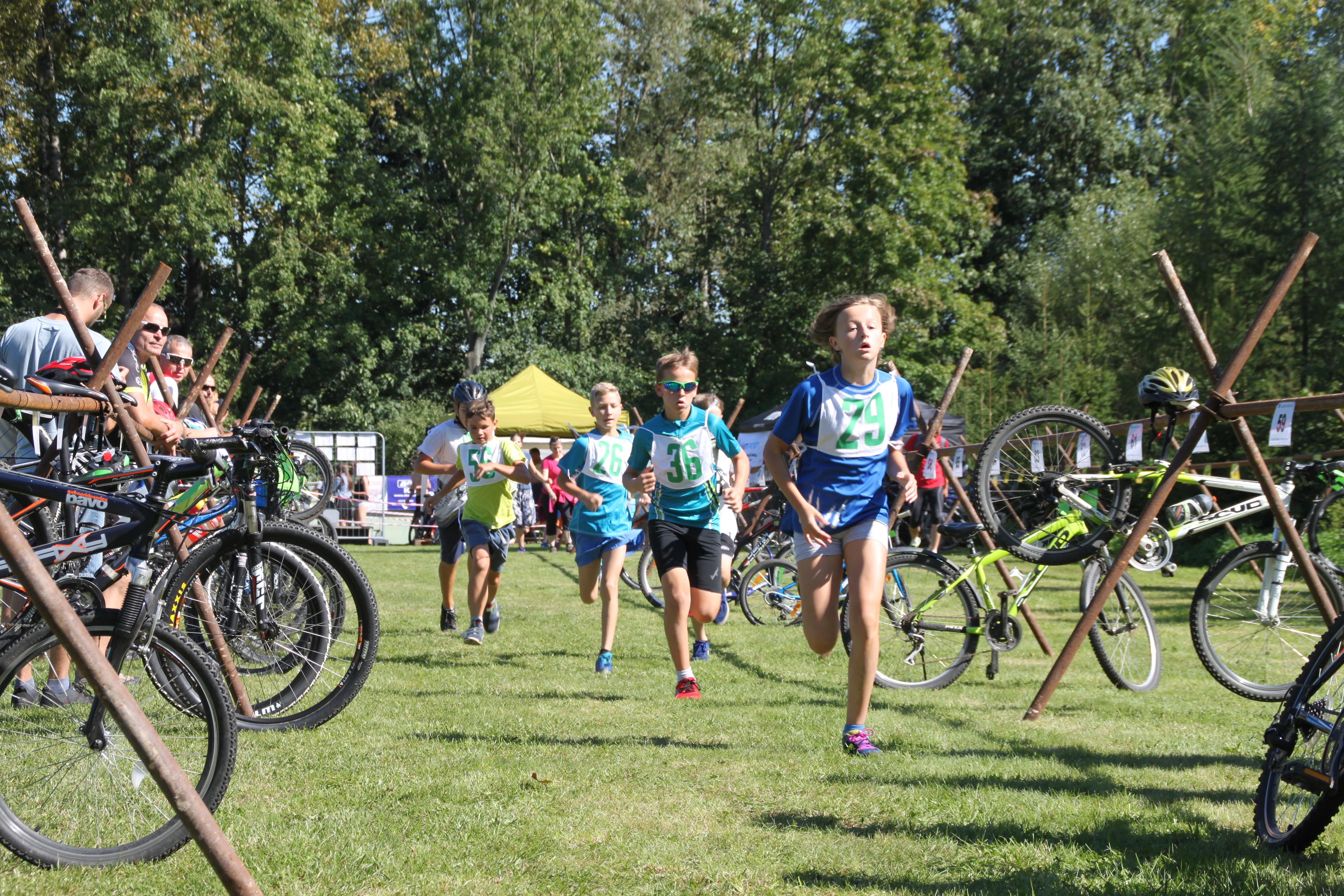 dětský závod triatlon Kelč